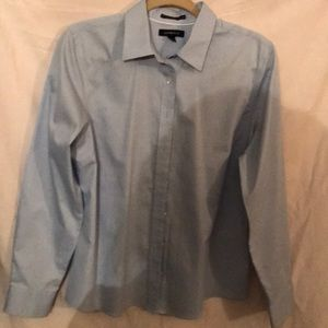 Ladies powder blue Lands End blouse